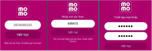 đăng ký ví MoMo