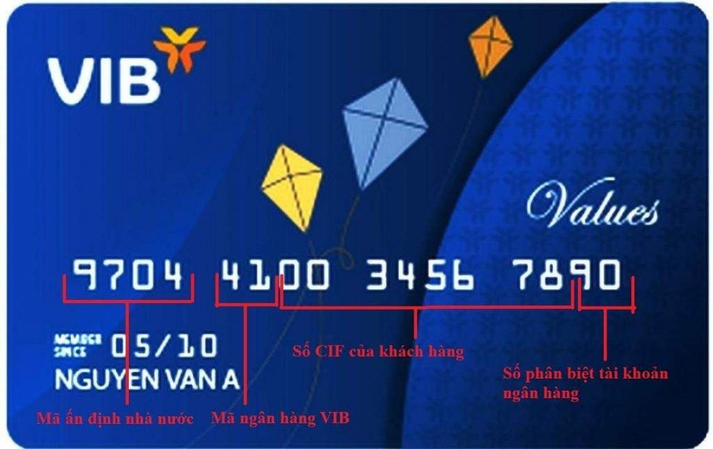 Dãy số 00345678 chính là số CIF của khách hàng