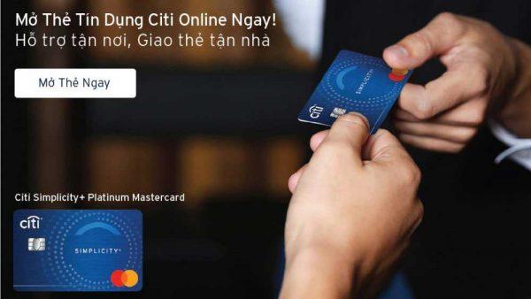 Mở thẻ tín dụng Citibank nhận hoàn tiền