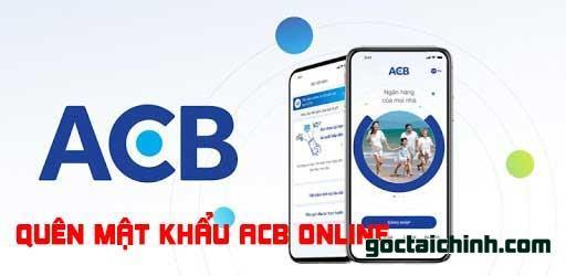 mật khẩu ACB Online trên hệ thống