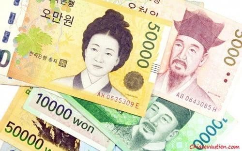 Cách đổi tiền Won sang tiền Việt