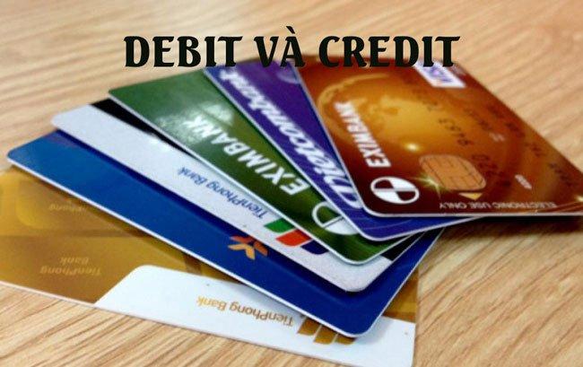 Sự khác nhau thẻ debit và credit