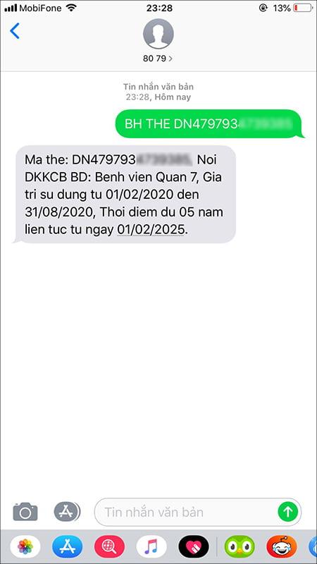 Tra cứu hạn bảo hiểm y tế bằng tin nhắn