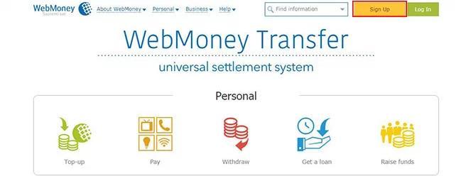 cách đăng ký web money