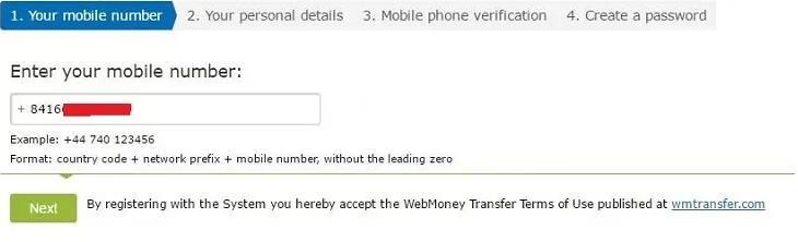 bước 2 đăng ký webmoney