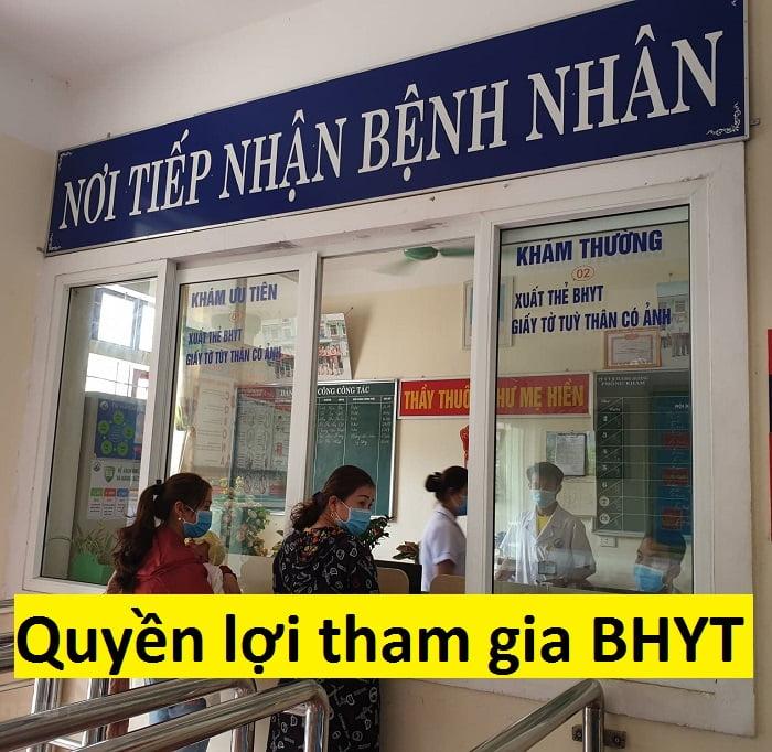 Quyền lợi khi tham gia BHYT