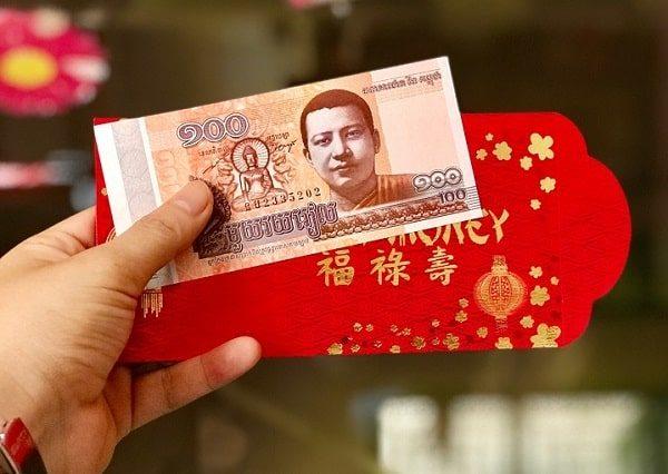 Tiền Campuchia in hình Phật 100 Riel mang ý nghĩa may mắn