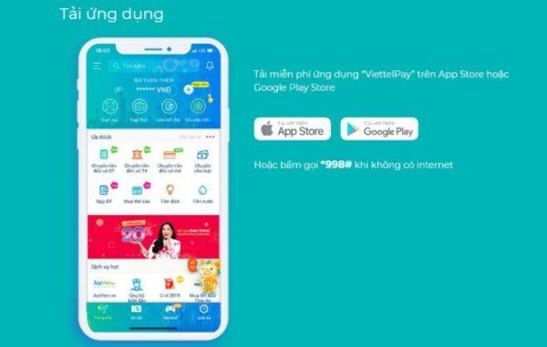Tìm và tải ứng dụng Viettelpay