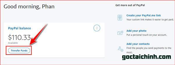 Rút tiền Paypal về vietcombank