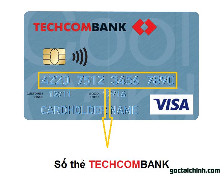 Số thẻ Ngân hàng Techcombank