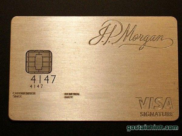 Black Card là gì - JP Morgan Reserve of Visa