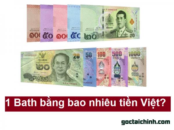Quy đổi 1 Bath bằng bao nhiều tiền Việt